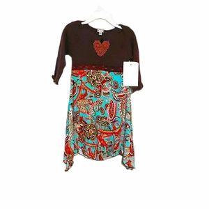 Dancing Hearts Collection Sharkbite Dress NWT